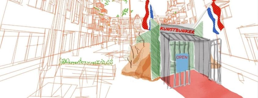 artist impression van de Pop-Up kunstbunker
